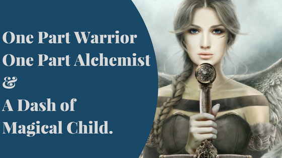 One part Warrior, one part Alchemist & a dash on the magical child.