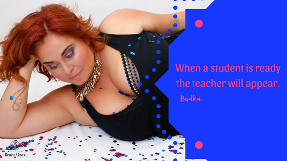 When a student is ready the teacher will appear.